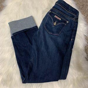 Hudson skinny cuffed jeans size 28